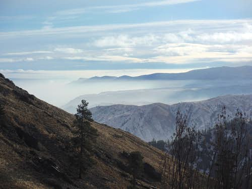 Closeup of the temperature inversion over Wenatchee
