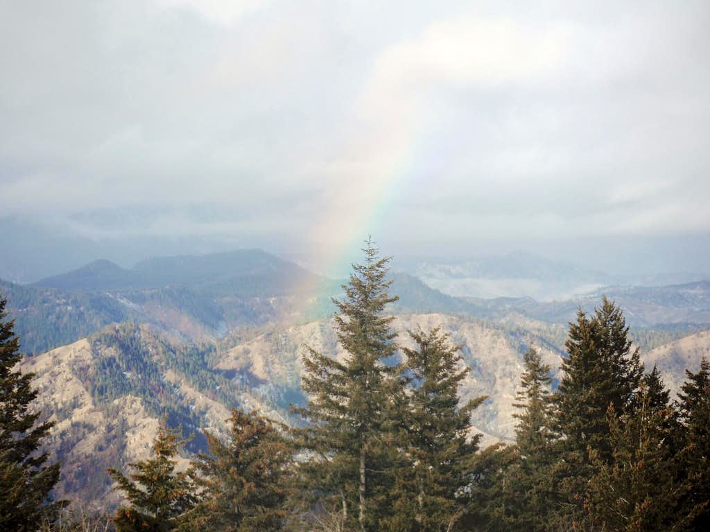 Rainbow view from the middle summit (true summit)