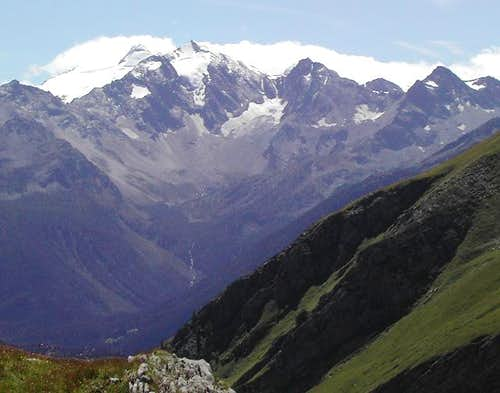 View from Rantin Alpage, near Col Serena, of all the Vallone d'en Hau