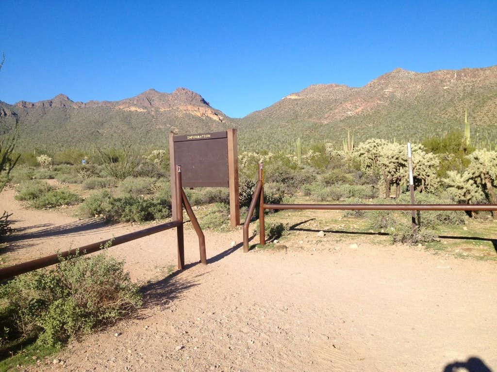 The Meridian Trailhead with Temptation Peak on the right