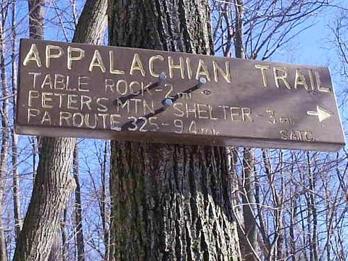 Sign at the trailhead that...
