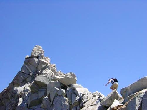 Ascending the south ridge of...