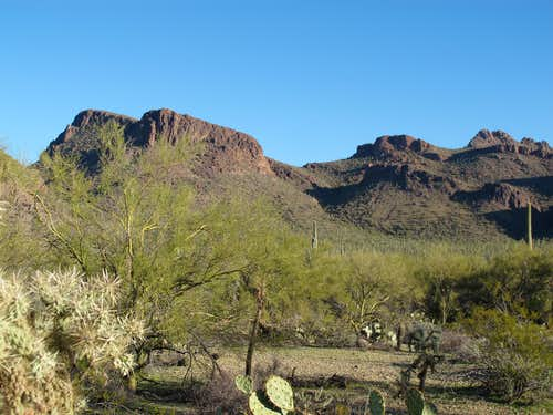 Panther Peak from Cam-Boh Picnic area and Roadrunner trail