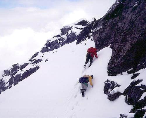 Steep snow, West Ridge, Cashmere Mountain