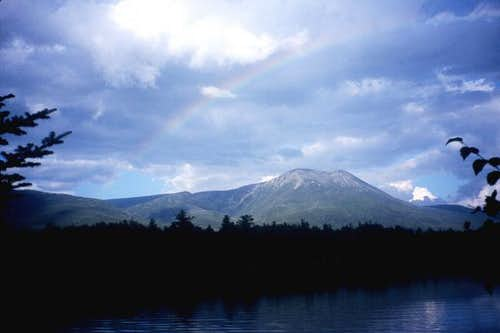 Rainbow over Katahdin from...