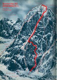 Birkenmajer route (Kezmarsky stit, High Tatras)