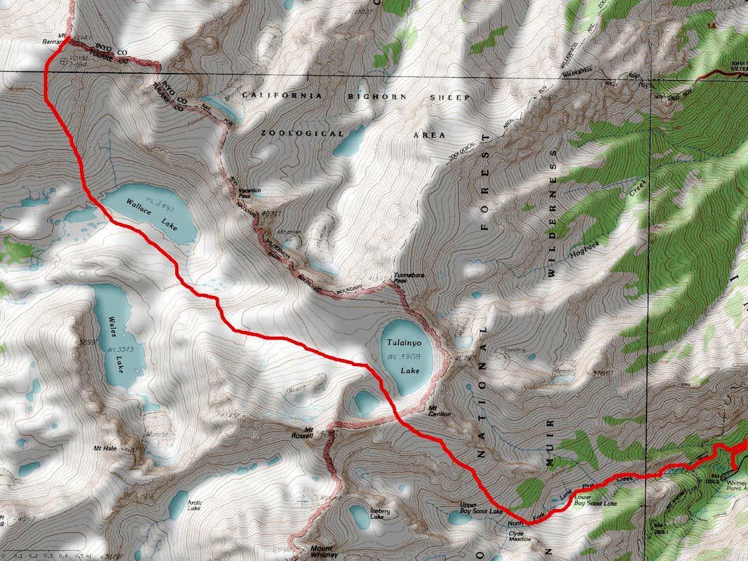Mount Barnard South Ridge