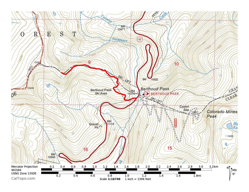 Russell Peak Ascent Route