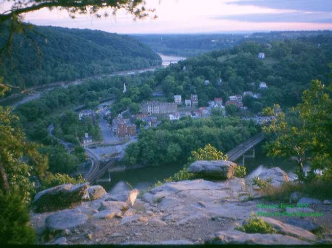 Harpers Ferry, WV as seen...