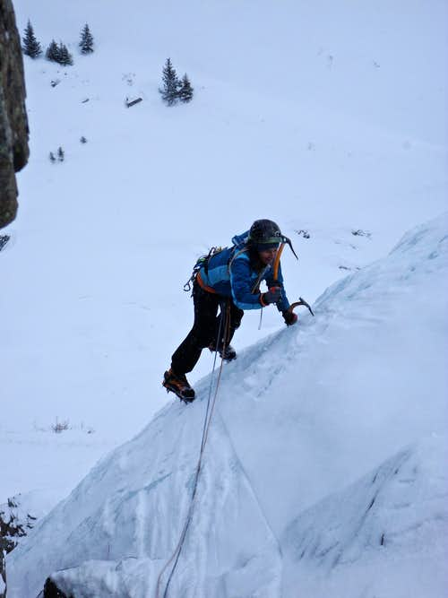 Topping on 2nd pitch, Second Gully