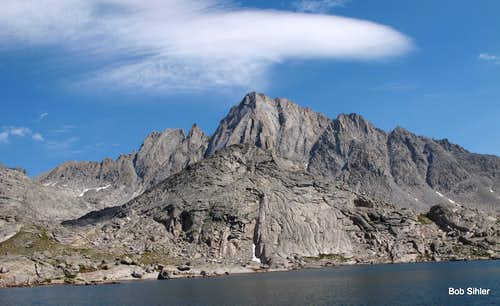 Ellingwood Peak and Unnamed Lake in Indian Basin