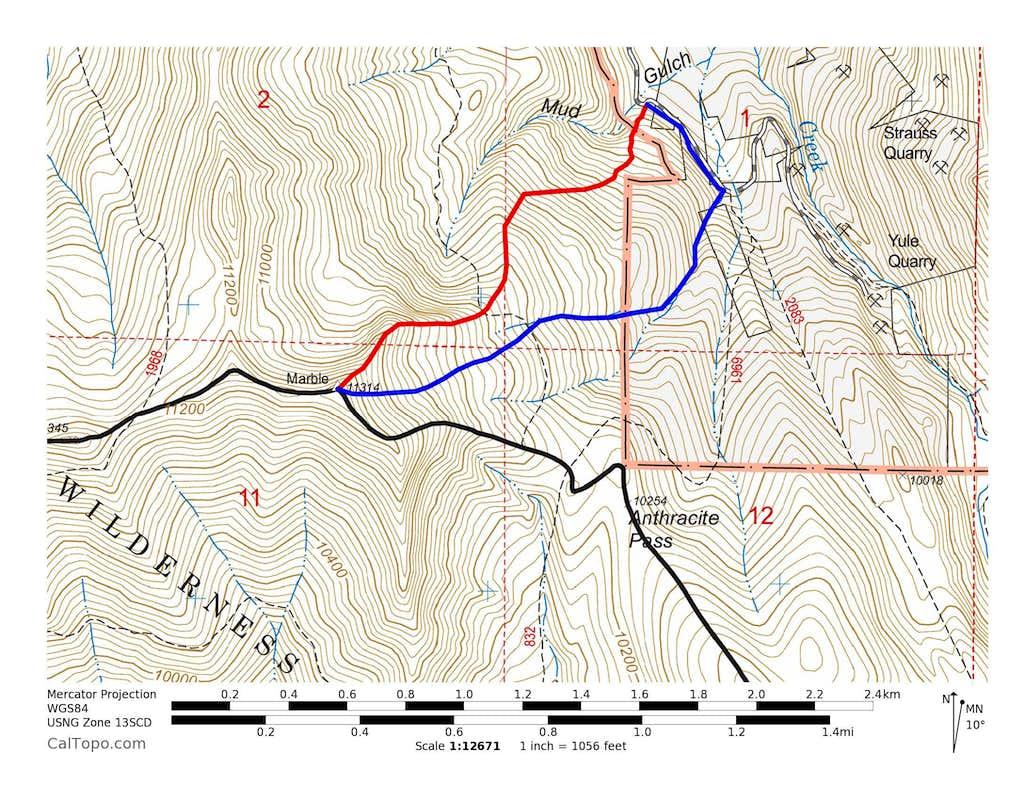 Marble Peak's Routes