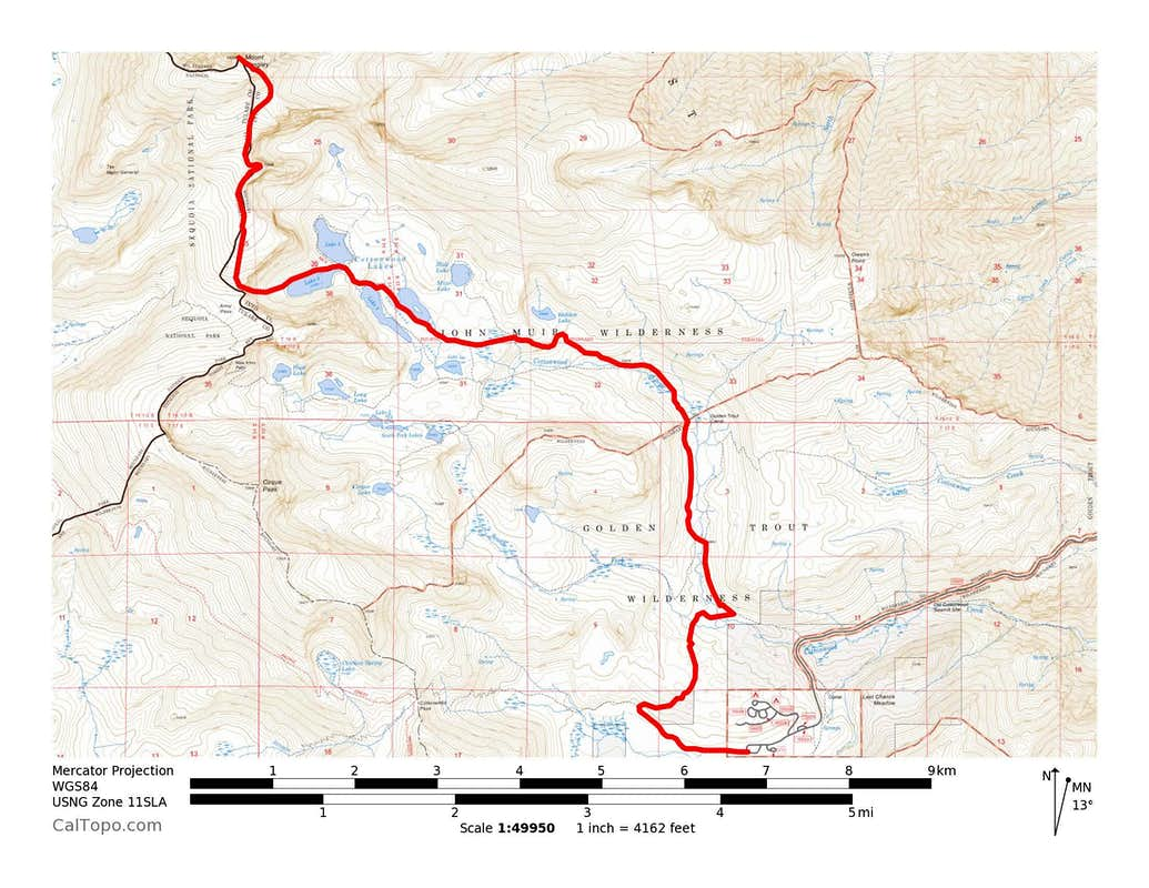 Mount Langley's Winter Route