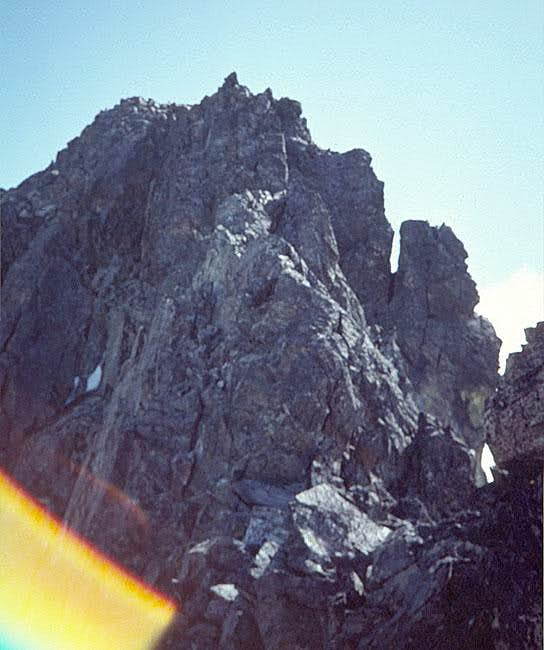 The summit, about 60 feet...