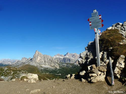 Panorama from Forcella Giau, Eastern Dolomites