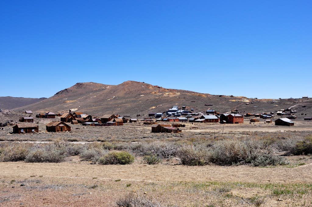 Distant view of Bodie