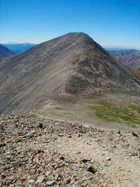 Gray summit and saddle...