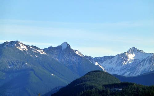 Greider Peak, Static Peak, and part of Ragged Ridge from Explorer Hill