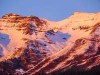 Summit of Timpanogos during a January sunset