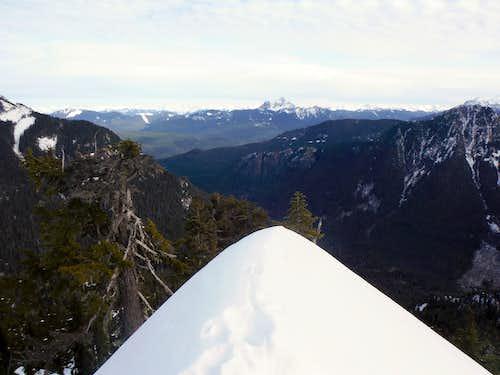 The snowy narrow edge
