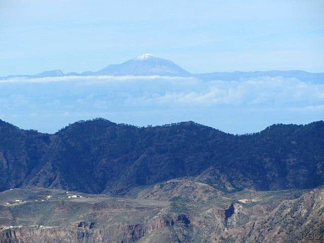 Tenerife, with Pico del Teide, from Gran Canaria