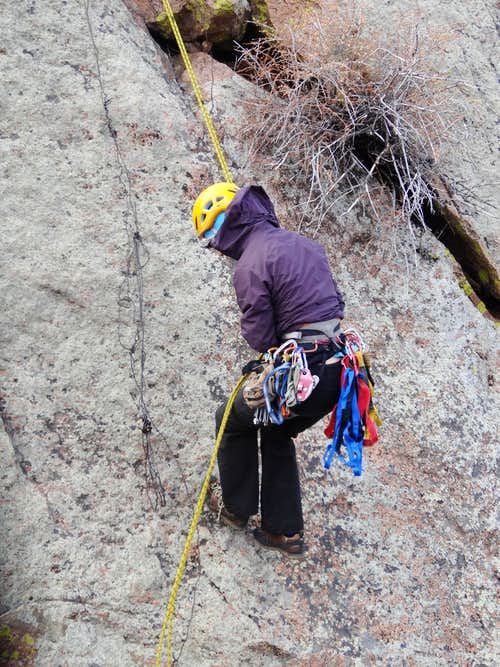 Repelling down