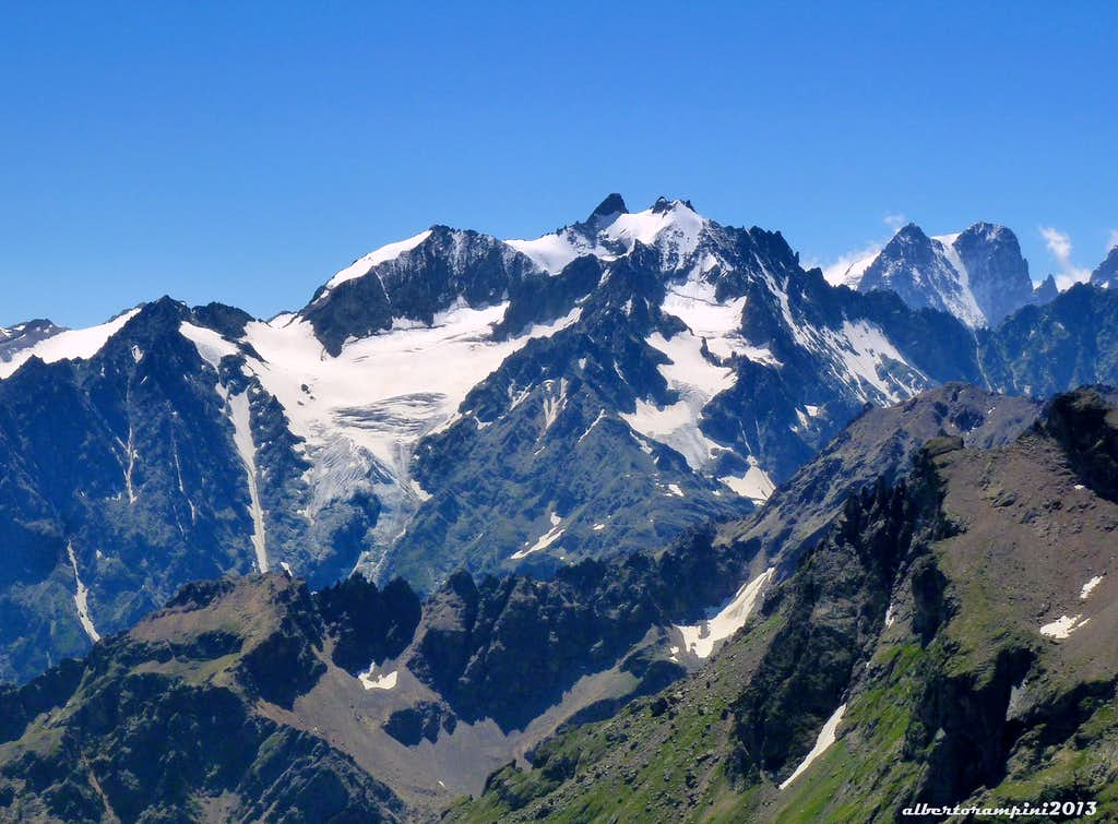 A glance over the Ecrins Massif from Tour Termier