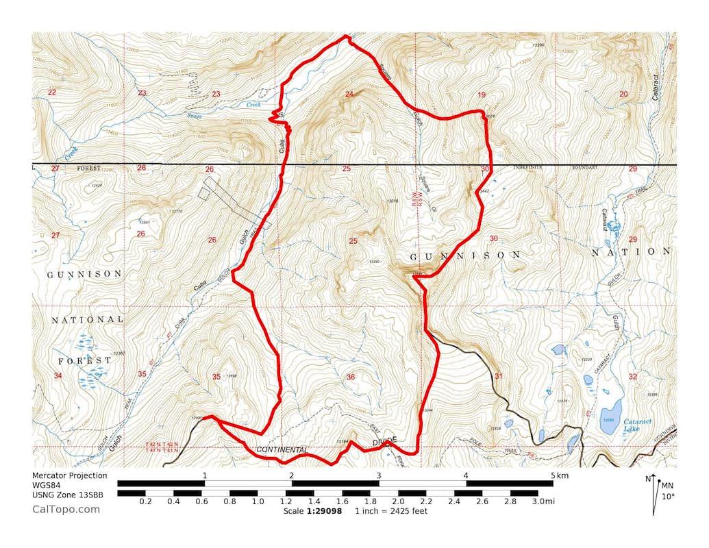 Quarter Peak, Half Peak, 13164 & 12990