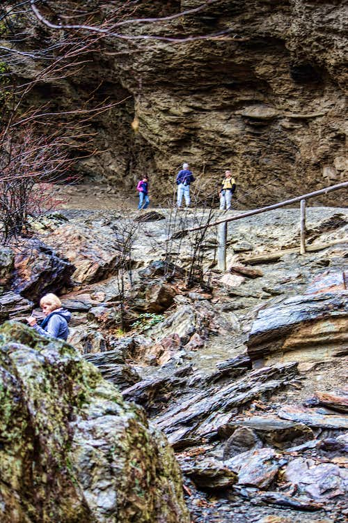 Alum Cave Bluff Trail at the top
