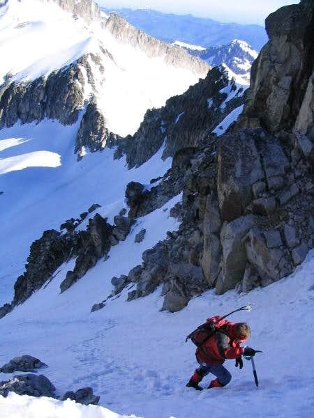 in the Estasen couloir, close...