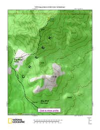 Route Map Silver BM peak