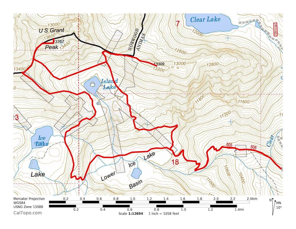 V 4, US Grant Peak & V 2
