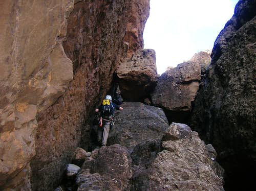 Via Ferrata Baviera: beneath the gap