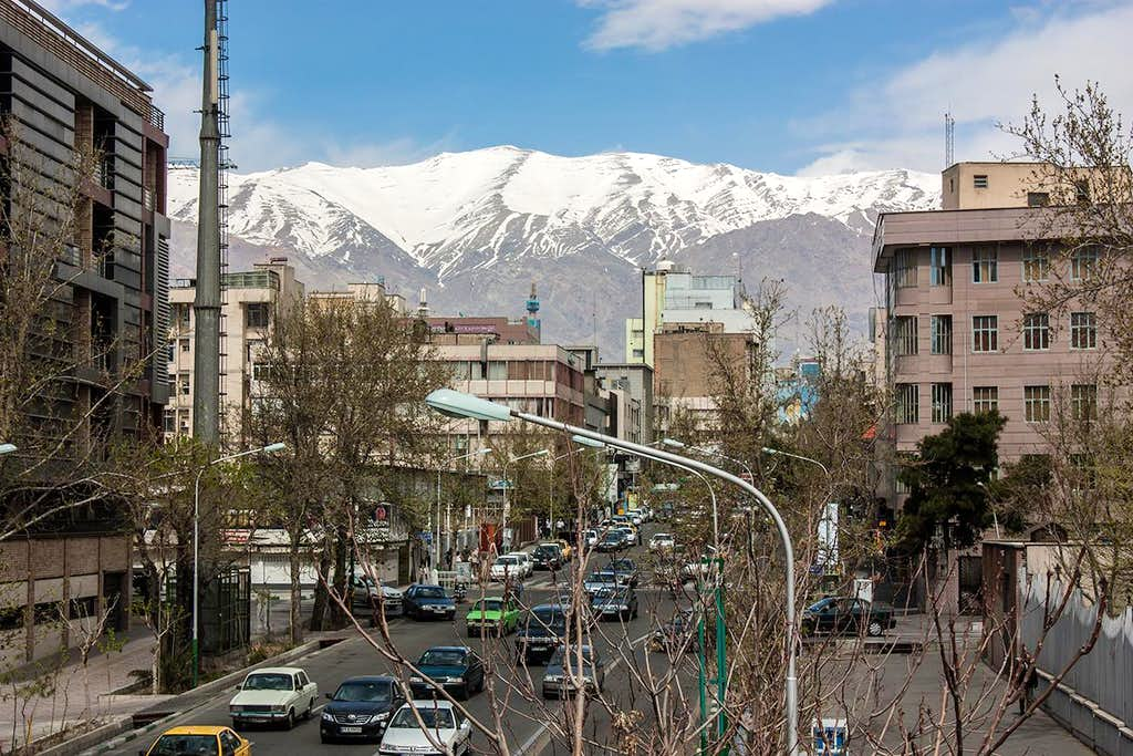 Alborz Mountains above Tehran City
