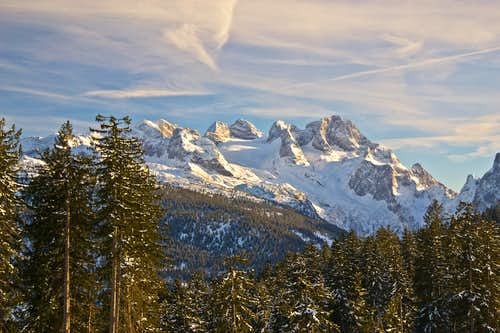 Winter view to the Dachstein group