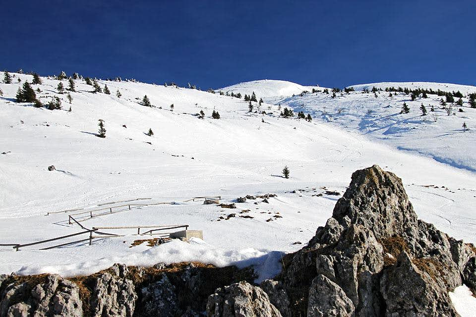 Struska upper slopes