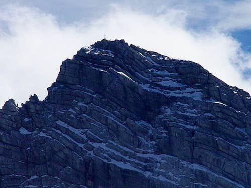 zoom Dachstein's peak, during...