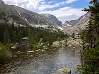 Picturesque lake in Rocky Mountain Natl Park