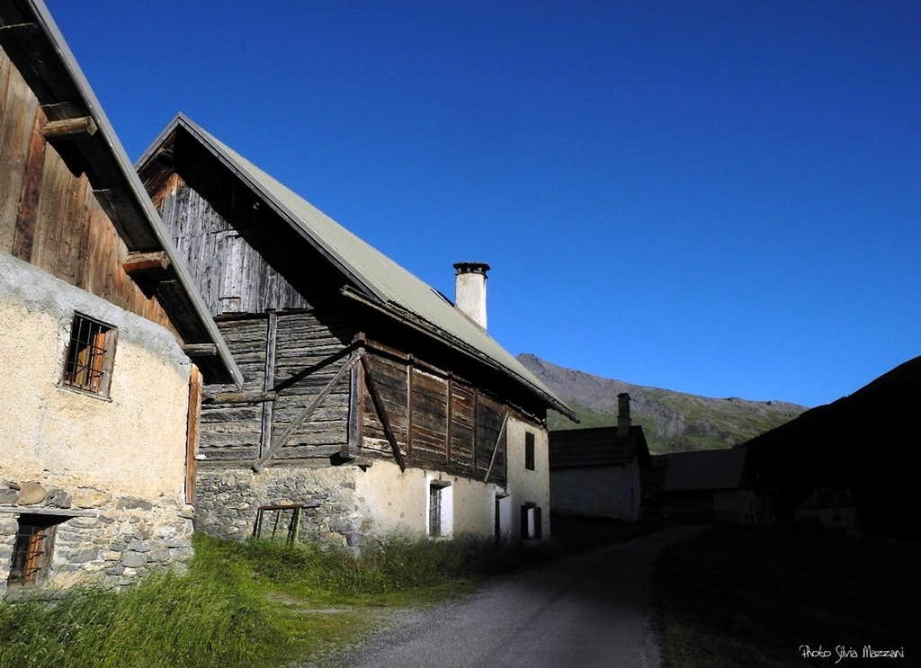Traditional farm-house in the Briançonnais area