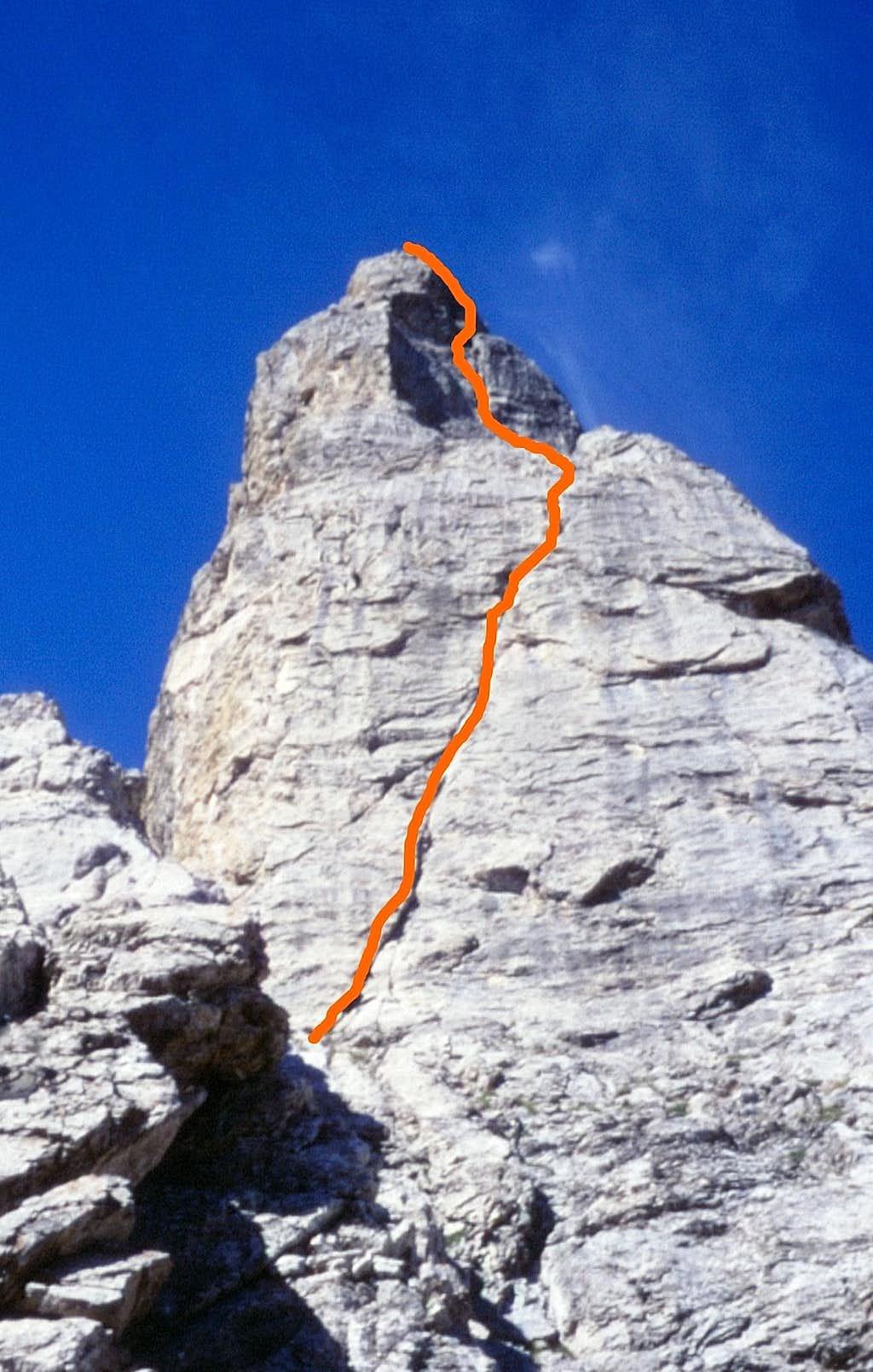 Tenailles de Montbrison - Eperon Renaud upper needle topo