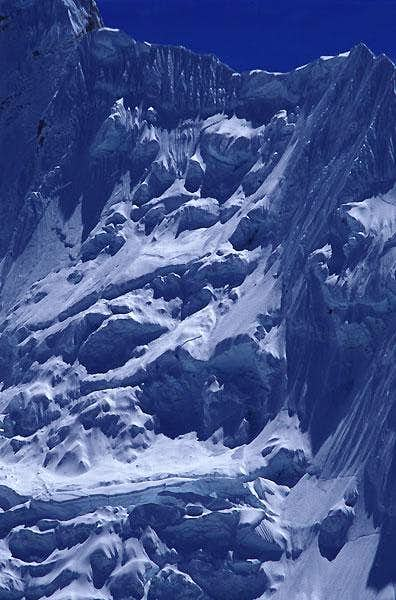 Nuptse West Face, detail....