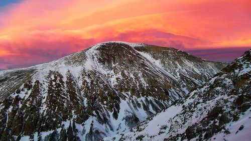 Fiery Sunset over California Peak
