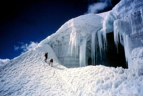 Nevado Ishinca NW route