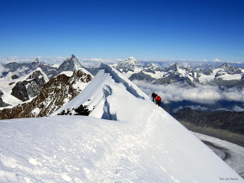 Eastern Lyskamm ending ridge