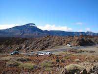 Car park at start of Teide...