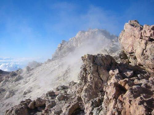 Summit crater of Teide. Jan...