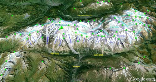 Google Earth  Monte Bianco Sector