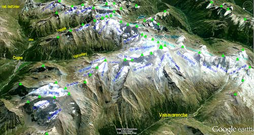 Google Earth  Gran Paradiso Sector
