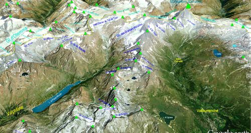 Google Earth  Matterhorn - Monte Cervino Sector