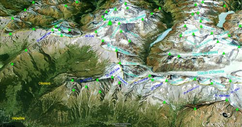 Google Earth  Grand Combin Sector